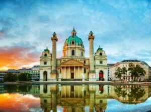 Karlskirche, Vienna at sunrise