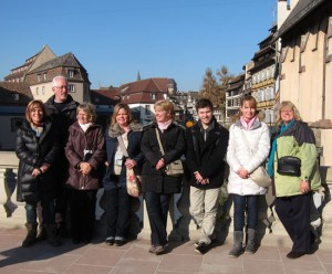 Our SS Antoinette group in Petit France, Strasbourg