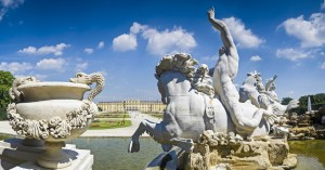 Neptune Fountain at Schonbrum Palace, Vienna