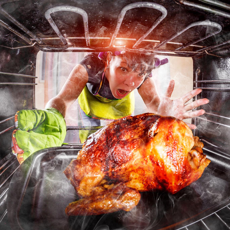 Roast Turkey in Oven