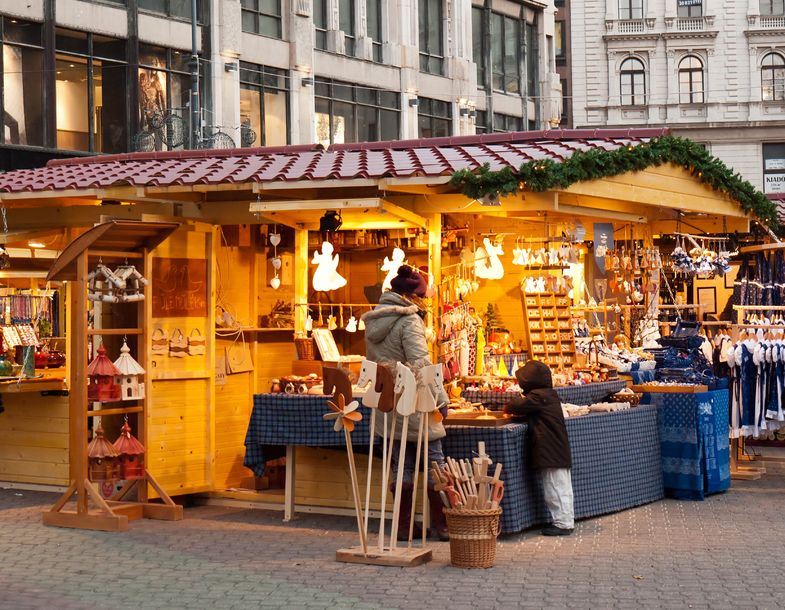 Budapest City Centre Christmas Market Stall