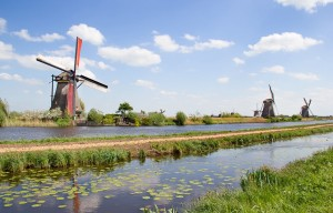 Windmills near Kinderdijk