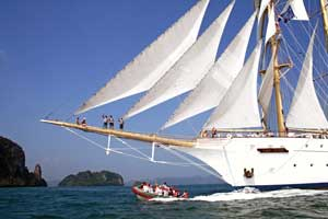 Watersports on Star Clipper