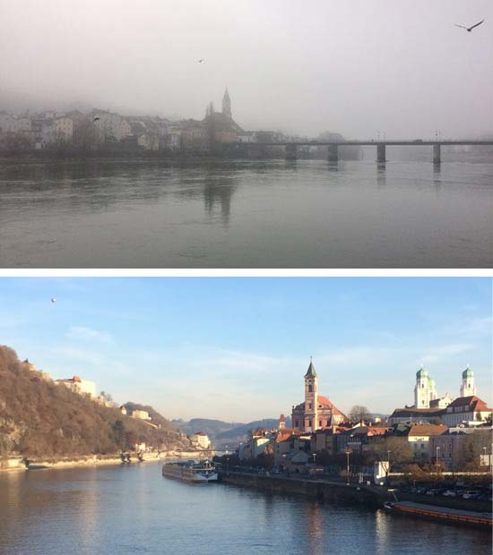 Passau, winter fog & sun