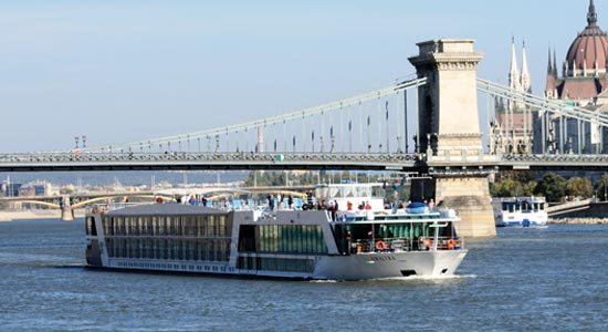 luxury river cruise ship AmaLyra in Budapest