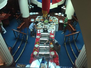 Lunch on the Royal Clipper