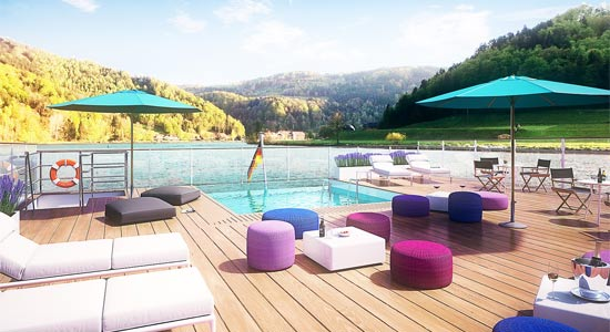 MS Amadeus Provence Sun Deck
