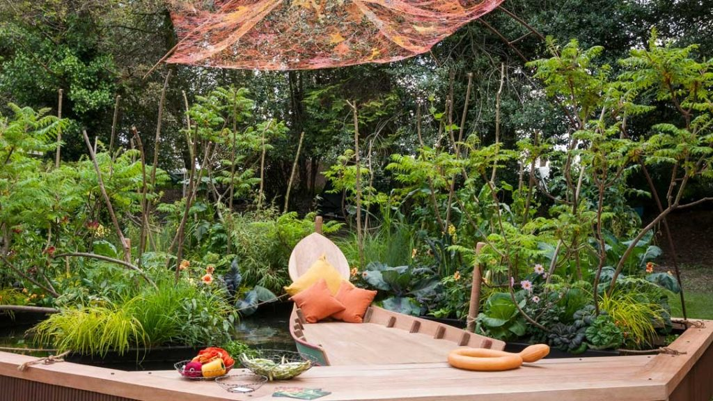 Garden at RHS Chelsea Flower Show based on Mekong river cruises