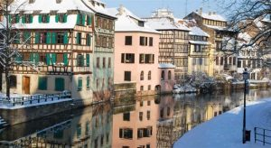 Strasbourg with snow