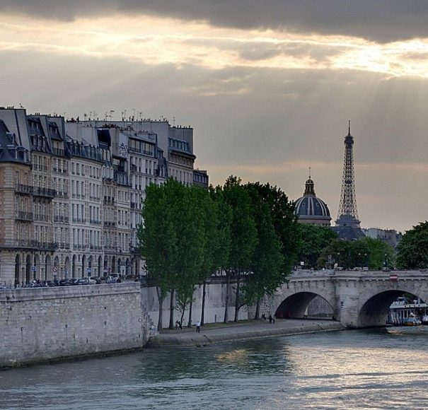 Paris on a Seine river cruise