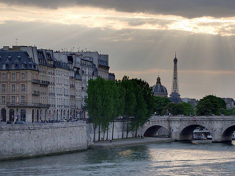 Paris on a Seine river cruise