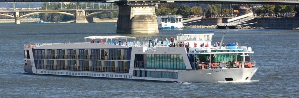 AmaBella river cruise ship used by APT river cruises in Europe.