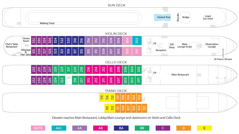 AmaWaterways AmaCerto Deck Plan