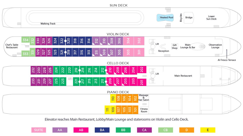AmaWaterways AmaStella Deck Plan