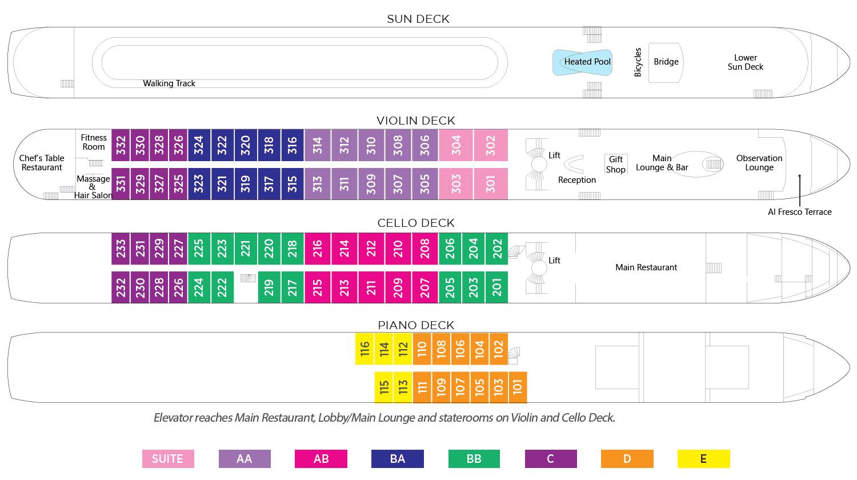 AmaWaterways AmaVenita Deck Plan 2019
