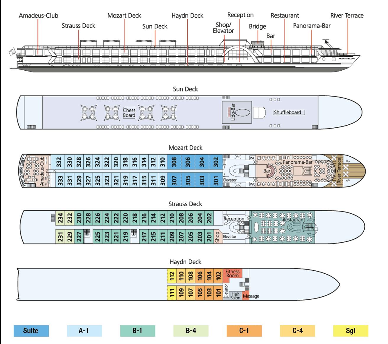 Amadeus Brilliant Deck Plan