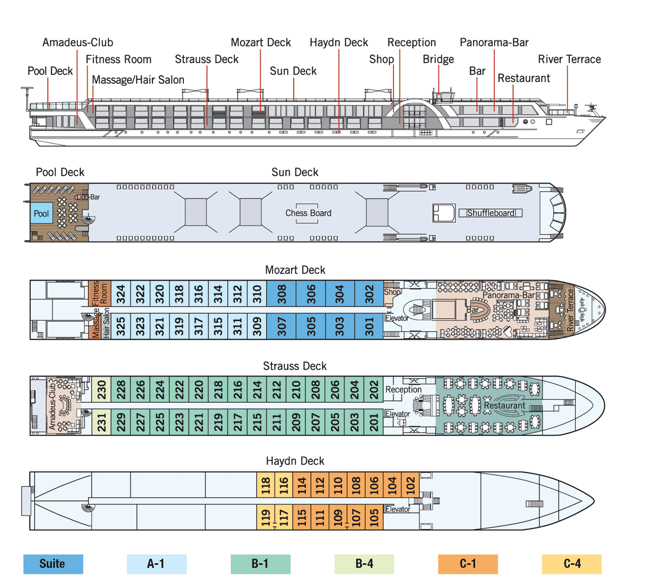 Amadeus Provence Deck Plan
