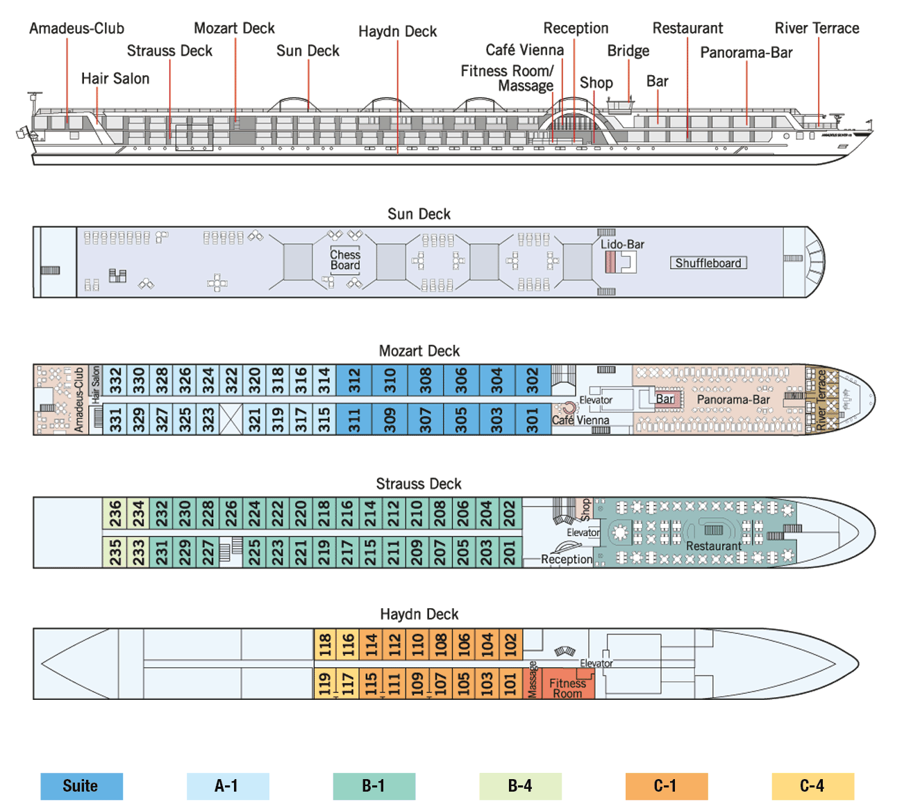 Amadeus Silver II Deck Plan
