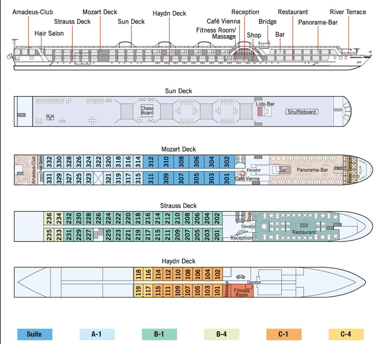 Amadeus Silver III Deck Plan