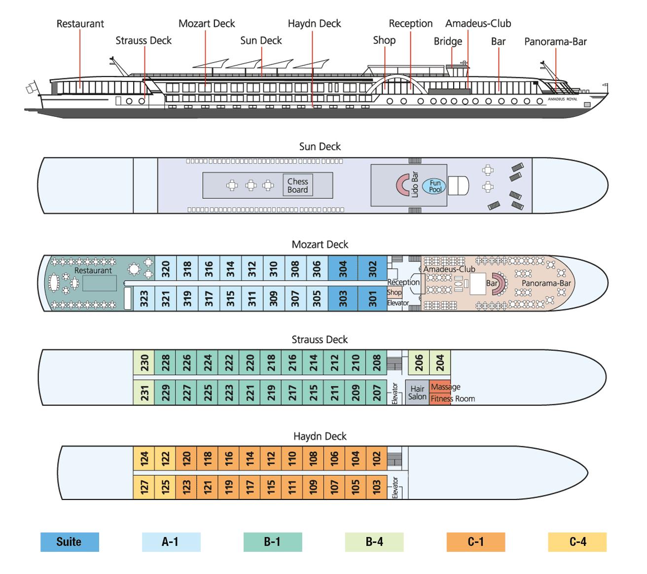 Amadeus Symphony Deck Plan
