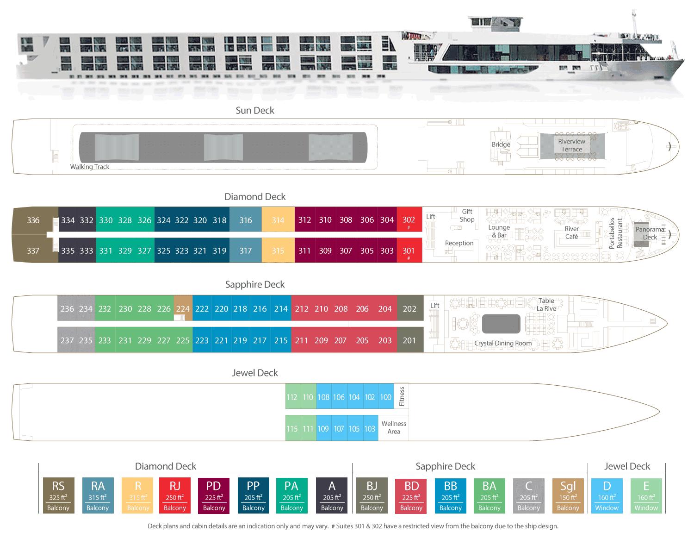 Scenic Jade Deck Plan