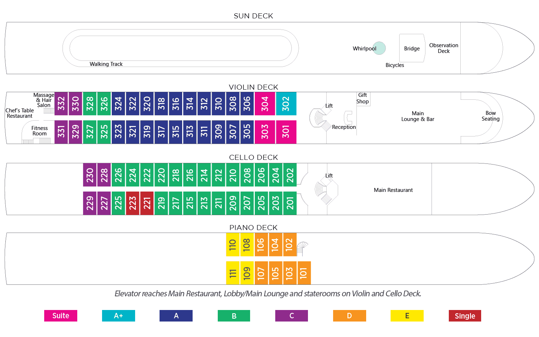 AmaWaterways AmaLyra Deck Plan