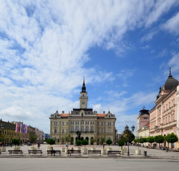 APT River Cruises - The Balkans City hall in the Center of Novi Sad
