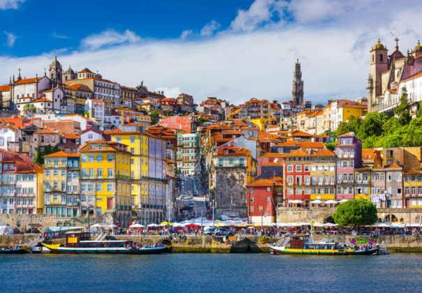 Douro - Porto,-Portugal-old-town-skyline-from-across-the-Douro-RiverLowRes