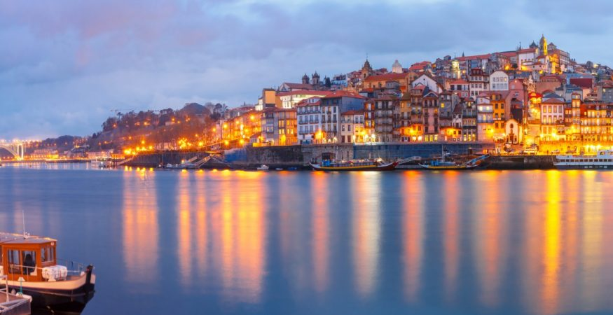 Douro - Ribeira-and-Old-town-of-Porto-with-mirror-reflections-in-the-Douro-RiverLowRes