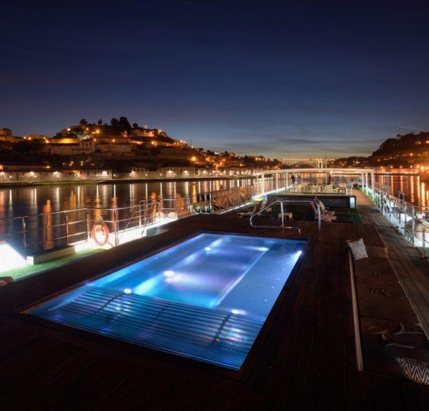 Scenic Azure Vitality Pool Night