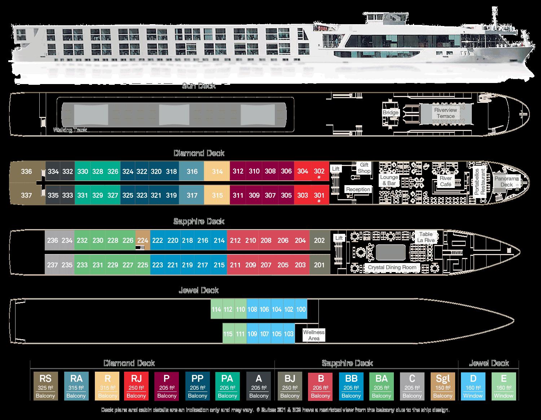Scenic Pearl Deck Plan