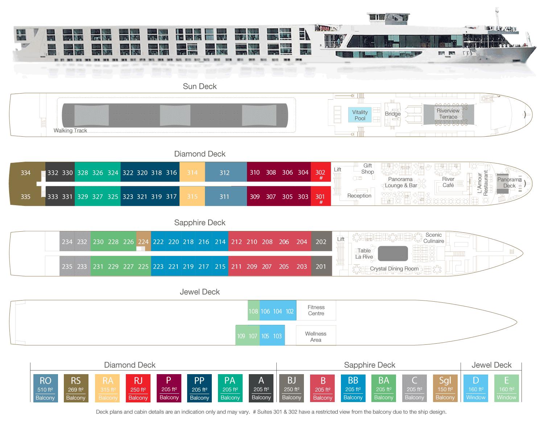 Scenic Sapphire Deck Plan