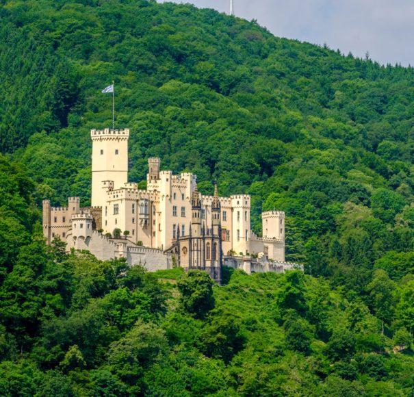 Rhine - Stolzenfels Castle at Rhine Valley (Rhine Gorge) near Koblenz
