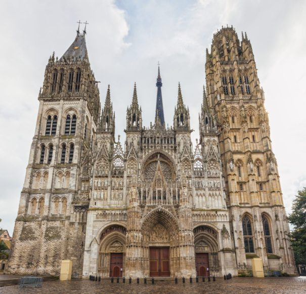 Seine - The cathedral of Rouen in France