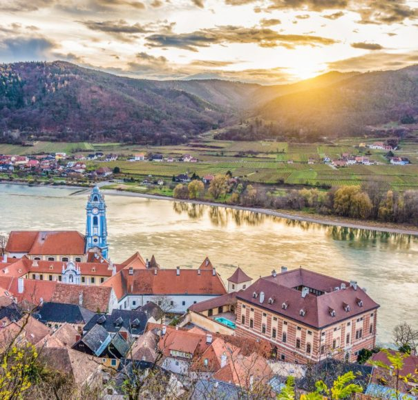 Danube - Wachau Valley with the historic town of Durnstein