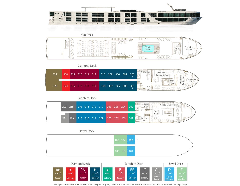 Scenic Azure deck plan