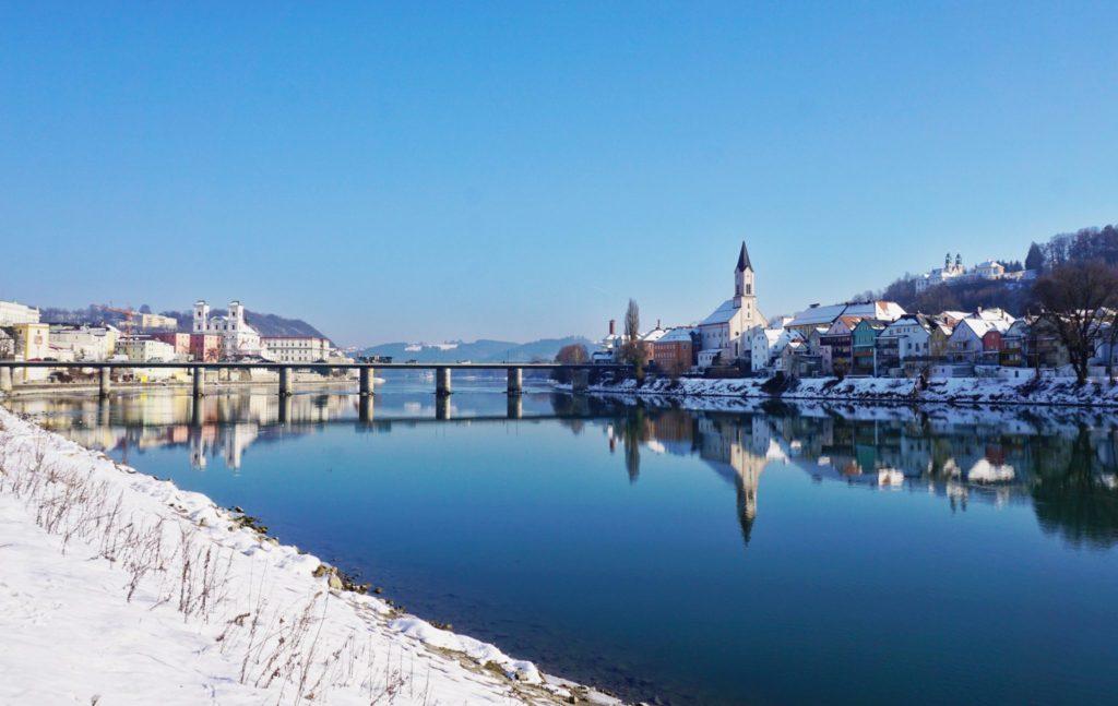 Danube River & Passau at Christmas
