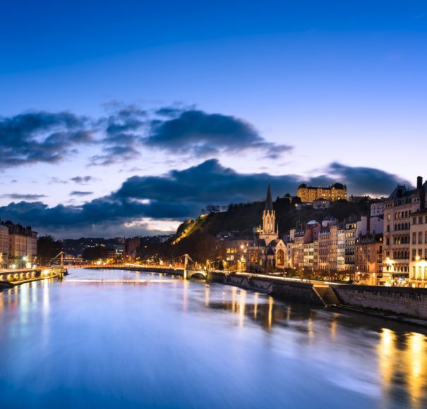 Lyon at nightime