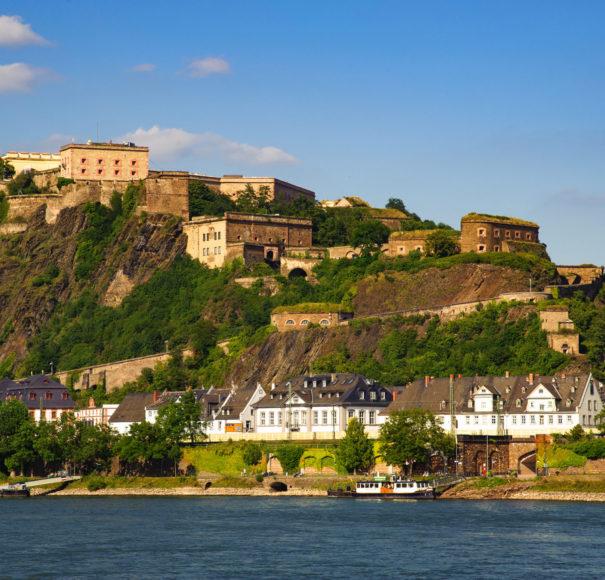 Titan Travel Fortress Ehrenbreitstein near Koblenz Rhine