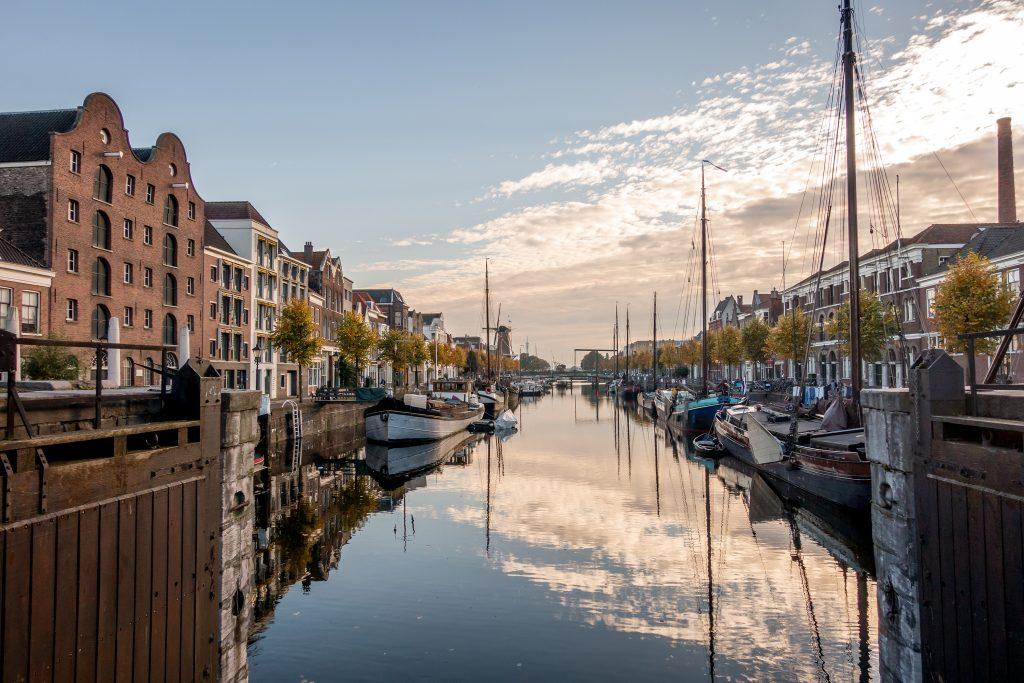 European River Cruise Historic Delfshaven area of Rotterdam