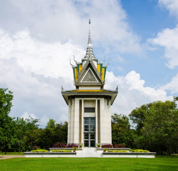 Skull Pagoda at The Killing Fields of Choeung Ek - Phnom-Penh, - Cambodia