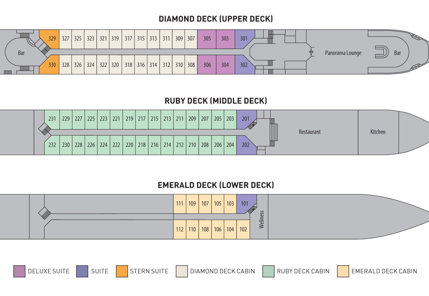 Riviera Travel - Lord Byron Deck Plan