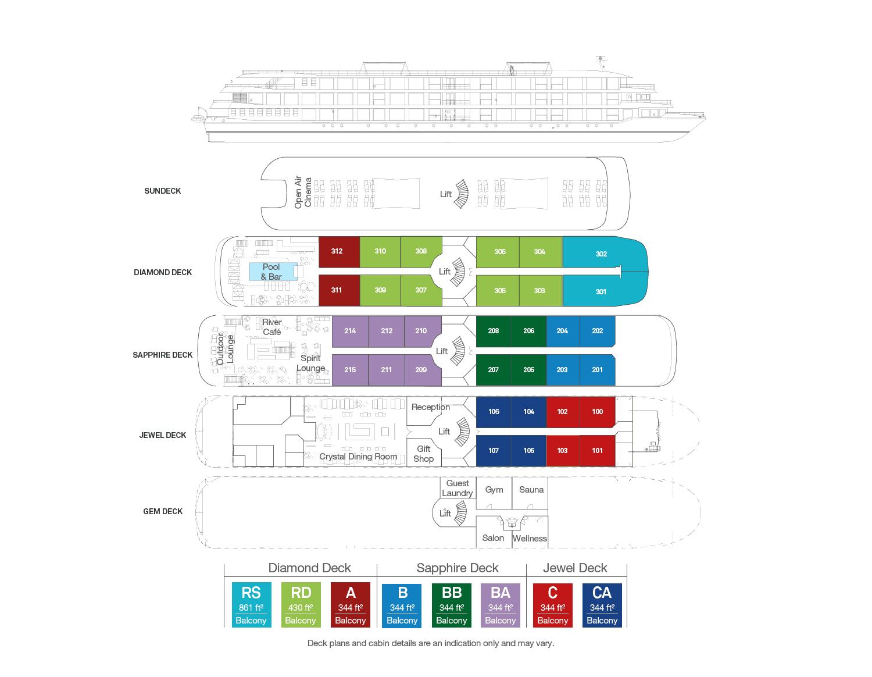 Scenic Spirit - Deck Plan