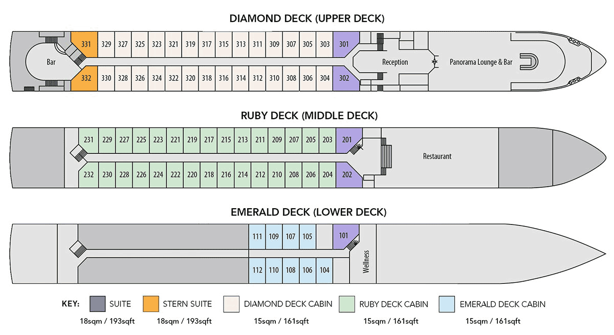 MS Swiss Corona - Deck Plan