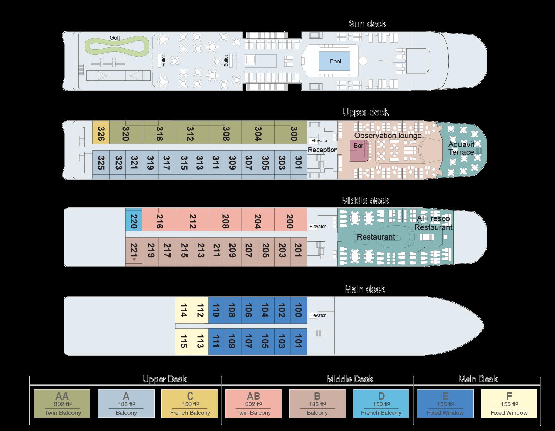 Viking Douro Ship Deck Plan
