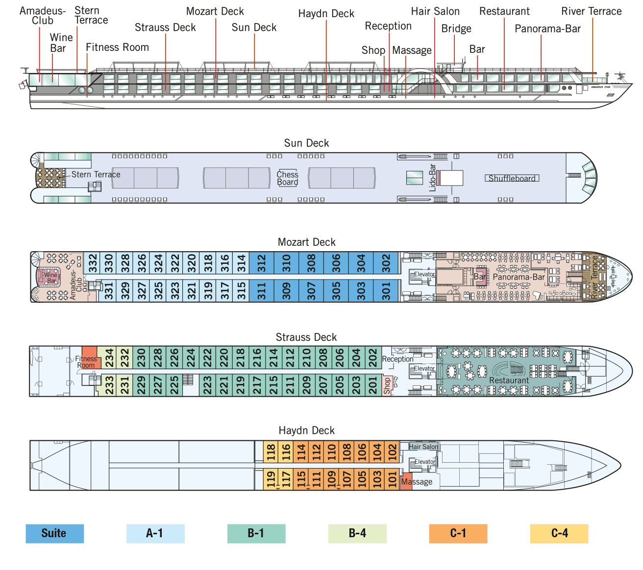 Amadeus Star - Deck Plan