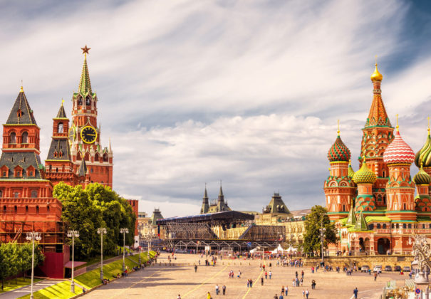 Moscow-Kremlin-and-of-St-Basil's-Cathedral-on-Red-Square