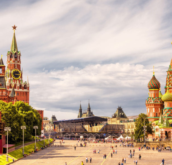 Moscow Kremlin and of St Basil's Cathedral on Red Square - Global River Cruising
