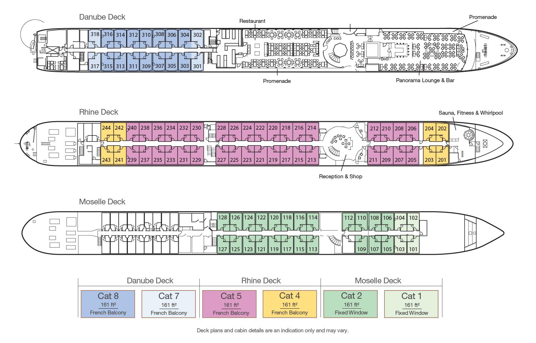 MS Bellejour - Deckplan