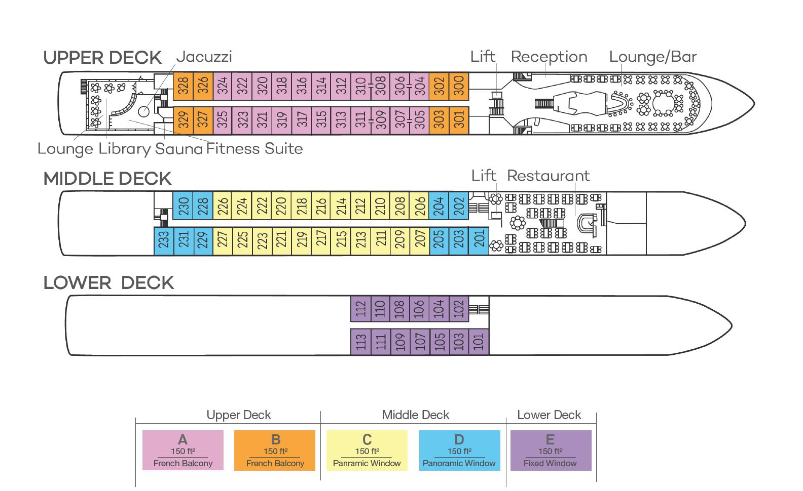 Fillia Rheni II - Deck Plan